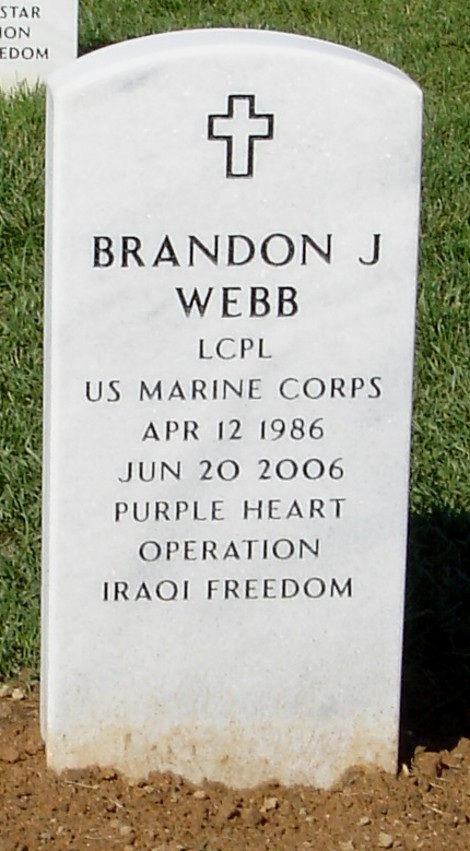 LCpl. BRANDON J. WEBB 2