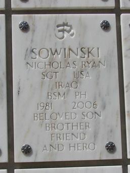 SGT Nicholas R. Sowinski 3