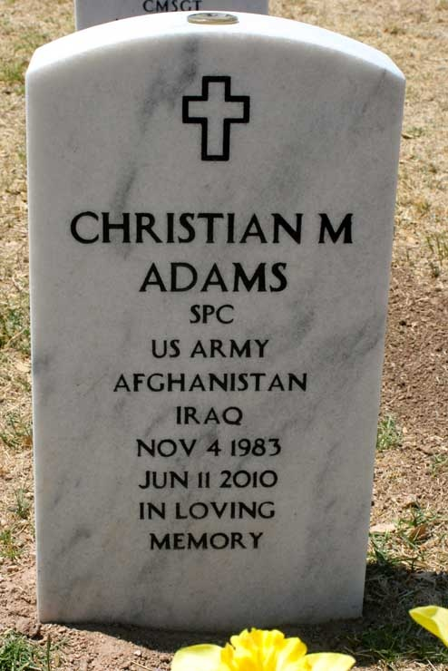 SPC Christian M. Adams